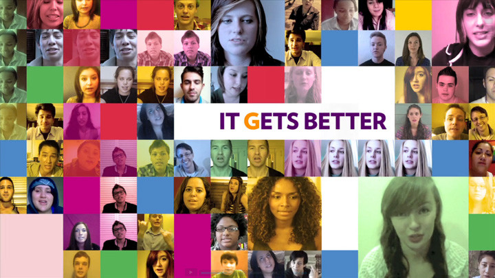 it gets better project It gets better: coming out, overcoming bullying,  we were there when dan started the project and we shared our favorite videos on facebook and at our meetings.